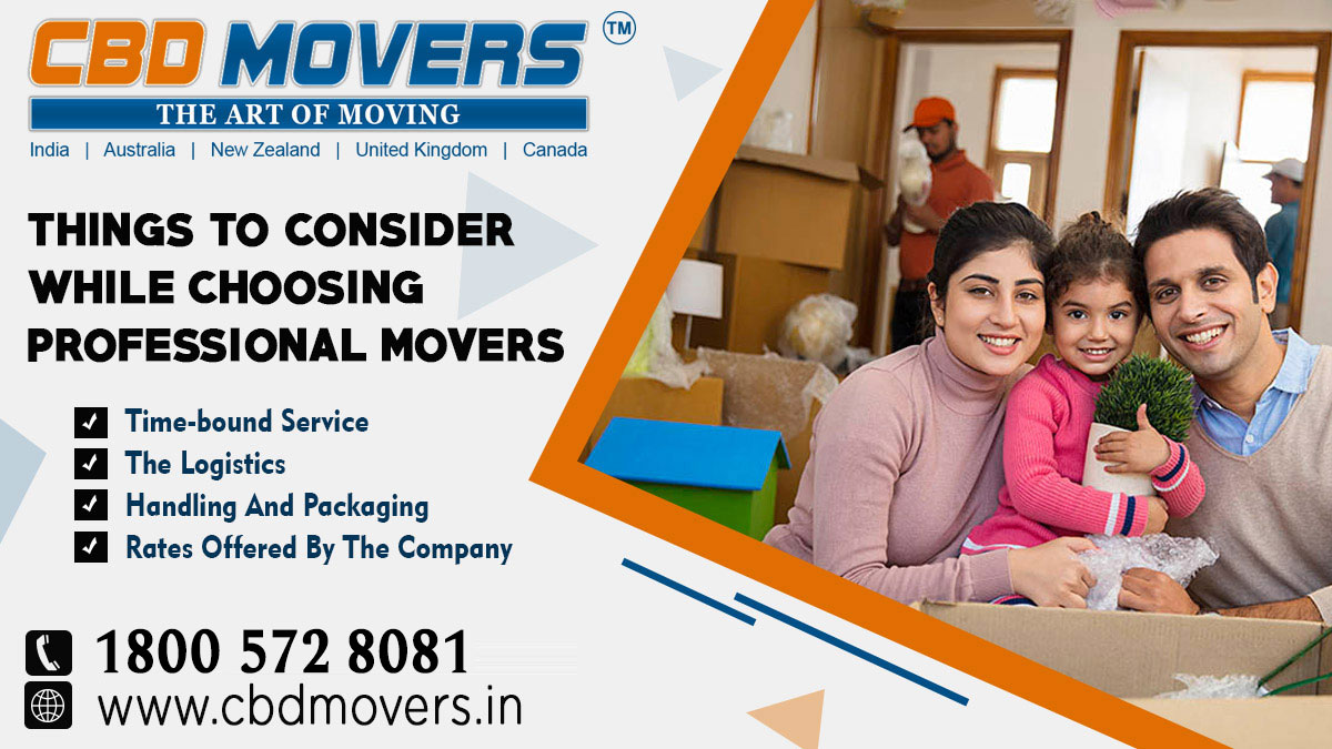 Things to Consider While Choosing Professional Movers
