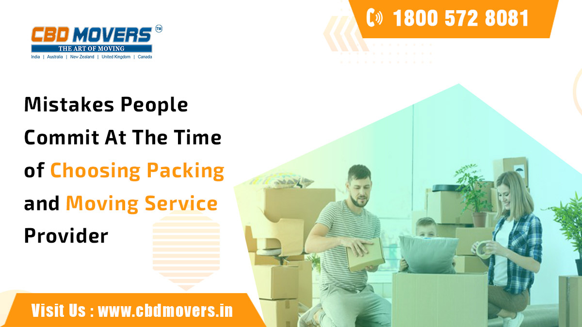 Choosing Packing & Moving Service Provider